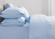 *PAIR*OF BODY /BOLSTER PILLOW 48cm x 180cm CASE/COVER ONLY -BEUTIFUL FRESH SKY BLUE