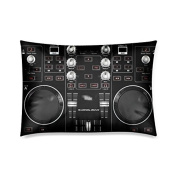 Home Decor Custom Hercules-DJ Vintage Zippered Pillow Case Twin Sides 50cm x 80cm