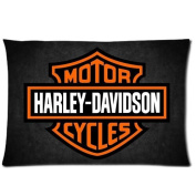 Chetery Fashion Harley Davidson Logo Printed Best Gifts Decorate Pillowcase Custom Pillowcase Soft Pillow Case Zippered Pillow Case Cover in Roomy Size20*80cm (Two side) Fashion Design