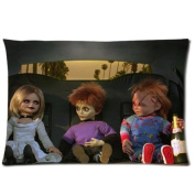 Horrible Chucky Doll Pattern Pillowcase Cover Custom Movie Chucky Standar Size Zipper Pillow Cases 20x30