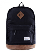 HotStyle 936 Plus Classical College School Backpack Rucksak Back Pack Bags Fits 40cm Laptop, Black