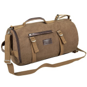 Eshow Men's Canvas\Nylon Retro Weekend Overnight Outdoor Hiking Climbing Camping Sports Gym Travel Duffel Bag