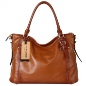 Jack & Chris Women Ladies' Genuine Leather Tote Satchel Shoulder Handbag - SF8008