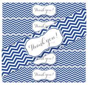 24 Thank you Chevron WATERPROOF Water Bottle Stickers