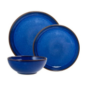 Denby 12-Piece Stoneware Imperial Breakfast Set, Blue