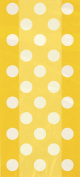 Cellophane Yellow Polka Dot Party Bags, Pack of 20