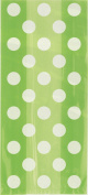 Cellophane Lime Green Polka Dot Party Bags, Pack of 20