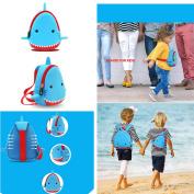 Kids Backpacks NOHOO, Kindergarten Enviromental Kids Backpack 3D Cartoon Cute Animal Schoolbags Hiking Travel Shark Toddler Sidekick