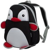 GreenForest Kid Backpack Boys Girls Backpacks Toddler Bags- Little Penguin Design Bag Black(13.4*9.1*12cm ) - Best Gift For 2-6 years old