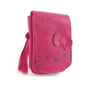 Hello Kitty by Camomilla Mobile Phone/MP3 - Glitter Funny Face Pocket - Fuchsia