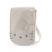 Hello Kitty by Camomilla Mobile Phone/MP3 - Glitter Funny Face Pocket Ecru