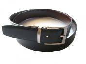 YOJAN PIEL Men's Belt Black reversible