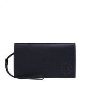 Leather wrist bag for men document holder by Gear Band Black