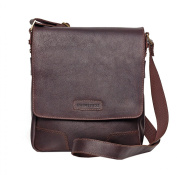 Prime Hide Elpaso Thick Brown Oiled Leather Crossbody Bag - 720