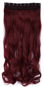60cm 70cm Long Curly 3/4 Half Full Head 1 Piece 5 Clips in Synthetic Hair Extensions Hairpiece