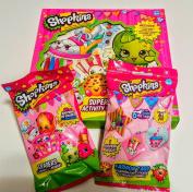 Shopkins Super Activity Set With 1 Fashion Tag Bag and 1 Eraser Bag