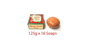 Pack of 16 - Mysore Sandal Bathing Soap - Superior with Pure Sandalwood Oil - 125g