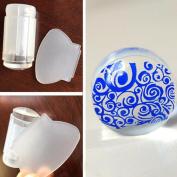 Sannysis 2.8cm DIY Transparent Nail Art Stamping Stamper Scraper Image Plate Manicure Print Tool DIY