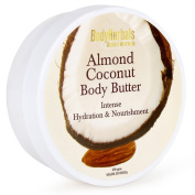 BodyHerbals Ancient Ayurveda Almond Coconut Body Butter, Intense Hydration & Nourishment 230ml
