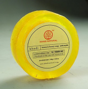 Khadi Natural Lemon & Honey Loofah Soap (SLS/Paraben Free) BY INDIANMEDICALSTORE