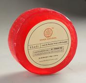 Khadi Natural Rose & Honey Loofah Soap (SLS/Paraben Free) BY INDIANMEDICALSTORE