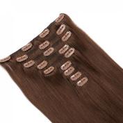 OCEANE HAIR Clip In Human Hair Extensions Brazilian Virgin Hair Thick 100% No Tangle No Shedding Clip Ins Human Hair Extensions 70g