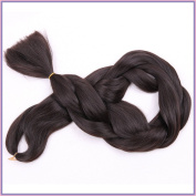 New Bee Hair(TM)1Pcs/Lot Kanekalon Brown Braiding Hair 110cm 165G Synthetic High Temperature Fibre Jumbo Braid Hair Extention