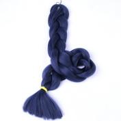 New Bee Hair(TM)1Pcs/Lot Kanekalon Jumbo Braiding Hair 210cm Synthetic Dark Blue High Temperature Fibre Jumbo Braid Hair-165G