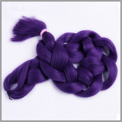 New Bee Hair(TM)1Pcs/Lot Kanekalon Purple Braiding Hair 110cm 165G Synthetic High Temperature Fibre Jumbo Braid Hair Extention