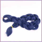 New Bee Hair(TM)1Pcs/Lot Kanekalon Jumbo Braiding Hair 110cm 165G African Synthetic Blue Braiding Hair Styles