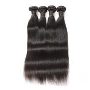 "Oisk 7a Peruvian Virgin Hair Silky Straight 4pcs/lot Hair Products 100% Peruvian Human Hair Extensions Bundles 1B 100g/ps Total 400g Hair Weft Bundles 10""10""10""10"""