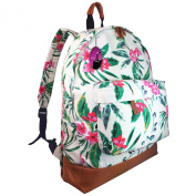 Hey Hey Handbags - Ladies Canvas Retro Print Backpack