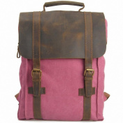 Lixmee Canvase Leather Computer Backpack