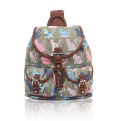 NWNK13® Exclusive DrawString Printed Teenage Canvas Rucksack School Uni Bag Backpack Travel Satchel Shoulder
