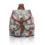 NWNK13® Exclusive DrawString Printed Teenage Canvas Rucksack School Uni Bag Backpack Travel Satchel Shoulder