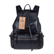 S-ZONE Casual Women Real Genuine Leather Backpack Fashion Shoulder Bag Shoolbag