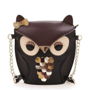 Kirinstores (TM) Women Girl Splicing Black Crossbody Owl Shoulder Bag ShoulderBag Handbag