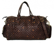 NC 56 Merle Flechtledertasche Dark Brown