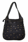 NC 56 Inger Black Woven Case 32X30X9 CM Washed Leather