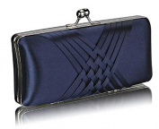 Elegant Navy Satin Evening Clutch Bag. FOR £20.99 | FREE UK DELIVERY | SAVE 70%