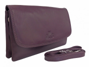 Rowallan Women's Leather Shoulder Bag Clutch Bag