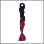 New Bee Hair.3Pcs/Lot Kanekalon Wine Red Braiding Hair 60cm 100g Synthetic High Temperature Fibre Jumbo Braid Hair Extention