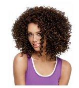 LongOu Black female small volume explosion head wig