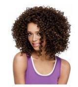 LongOu Black female small volume explosion head wig