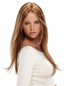Elegant Women Occidental Style Two Tone Long Straight Daily Hair Wigs