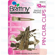 Brittny Single Prong Pin Curl Clips 12pcs #BR58591