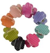 50 Pcs Mini Size Bangs Goody Polka Dot Hair Claw Clip Hair Pins for Baby Girls Ladies Mix Coloured