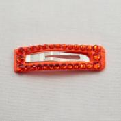 Bari Lynn Rectangle Crystalized Snap, Orange