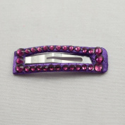 Bari Lynn Rectangle Crystalized Snap, Purple