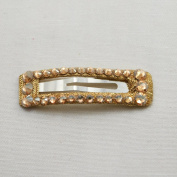 Bari Lynn Rectangle Crystalized Snap, Gold